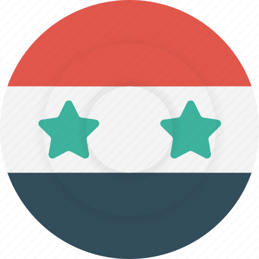 country, flag, geography, national, nationality, syria icon
