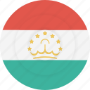 country, flag, geography, national, nationality, tajikistan icon