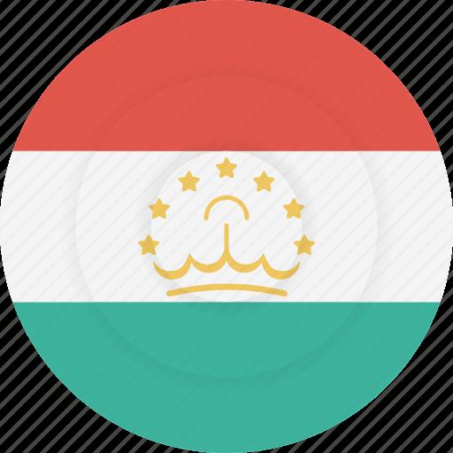 country, flag, geography, national, nationality, tajikistan icon