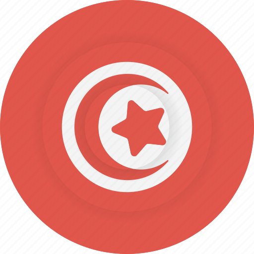 country, flag, geography, national, nationality, tunisia icon