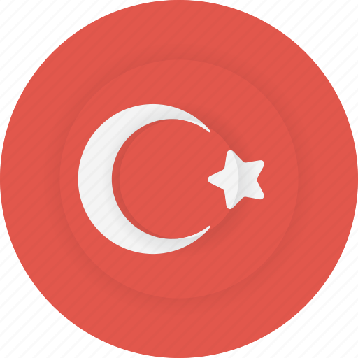 country, flag, geography, national, nationality, turkey icon