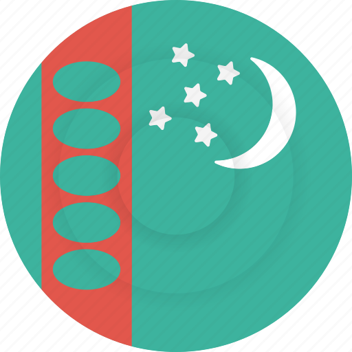 country, flag, geography, national, nationality, turkmenistan icon