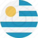 country, flag, geography, national, nationality, uruguay icon