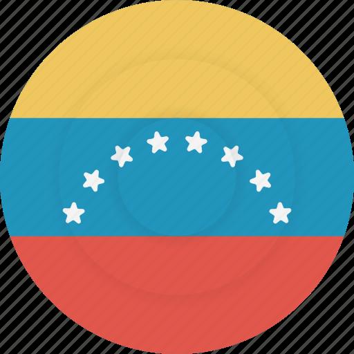 country, flag, geography, national, nationality, venezuela icon