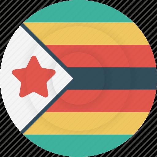 country, flag, geography, national, nationality, zimbabwe icon