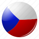 circle, country, czech, flag, flags, national, round icon