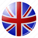 circle, country, flag, flags, gb, grate bratain, round icon