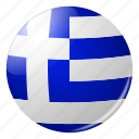 circle, country, flag, flags, greece, national, round icon