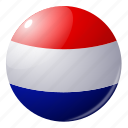 circle, country, flag, flags, national, netherlands, round icon