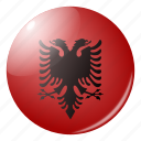 albania, circle, country, flag, flags, national, round icon