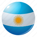 argentine, circle, country, flag, flags, national, round icon