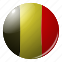 belgium, circle, country, flag, flags, national, round icon