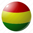 bolivia, circle, country, flag, flags, national, round icon