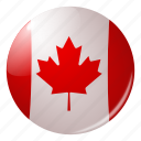 canada, circle, country, flag, flags, national, round icon