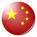 china, chinese, circle, country, flag, flags, round