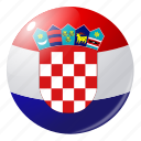 circle, country, croatia, flag, flags, national, round icon