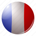 circle, country, flag, flags, france, french, round icon