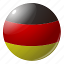 circle, country, flag, flags, germany, national, round icon