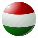 circle, country, flag, flags, hungary, round icon