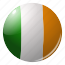 circle, country, flag, flags, ireland, round, national