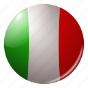 circle, country, europe, flag, flags, italy, round icon