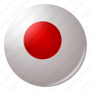 circle, country, flag, flags, japan, japanese, round icon