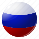 circle, country, flag, flags, national, round, russia icon