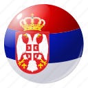 circle, country, flag, flags, national, round, serbia icon