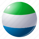 circle, country, flag, flags, lione, round, sierra icon