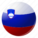circle, country, flag, flags, national, round, slovenia icon