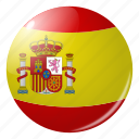 circle, country, flag, flags, round, spain, spanish icon