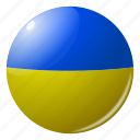circle, country, flag, flags, national, round, ukrain icon