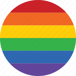 circle, flag, gay, homosexual, marriage, pride, rainbow icon