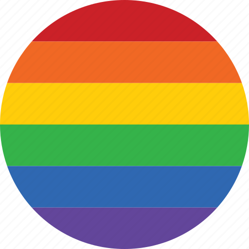 circle, flag, gay, homosexual, marriage, pride, rainbow icon