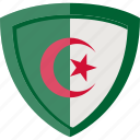 flag, shield, algeria