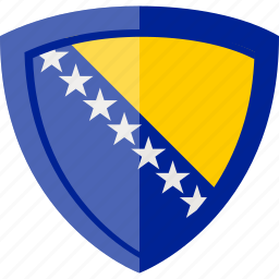 bosnia and herzegovina, flag, shield icon