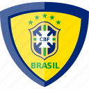 brazil, cbf, shield icon