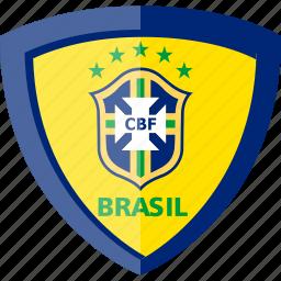 brazil, cbf, shield icon