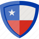 chile, flag, shield icon