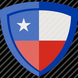 chile, flag, shield icon