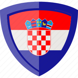croatia, flag, shield icon