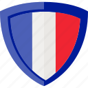 flag, france, shield icon