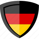 flag, germany, shield icon