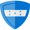 flag, honduras, shield icon
