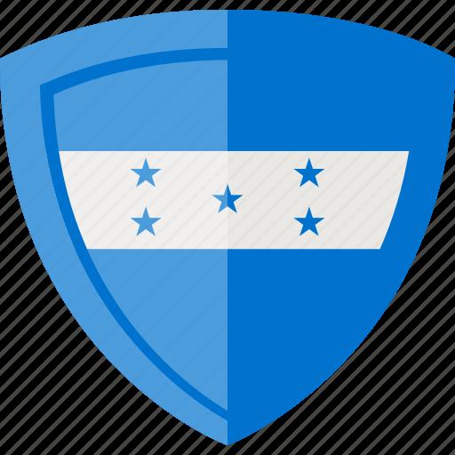 flag, honduras, shield icon