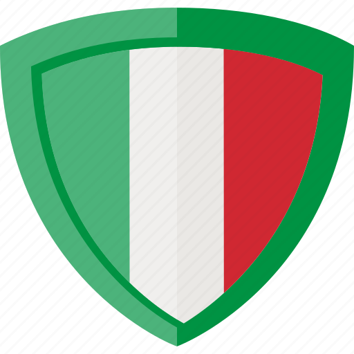 flag, italy, shield icon