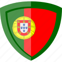 flag, portugal, shield icon