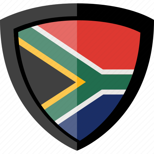 flag, shield, south africa icon