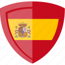 flag, shield, spain icon