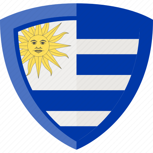 flag, shield, uruguay icon